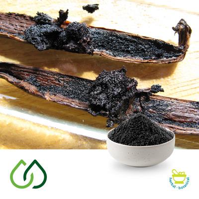 Bourbon Vanilla Seeds (Debacterised Spent) by Plantex Sas