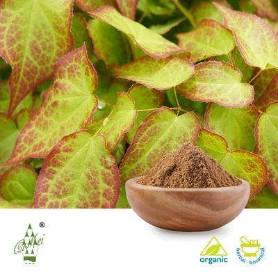 Organic epimedium leaf powder by Qimei Industrial Group Co.,Ltd