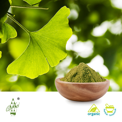 Organic Ginkgo Leaf Powder by QIMEI INDUSTRIAL GROUP CO.,LTD