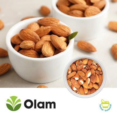 Natural Whole And Broken Almonds (Pasteurized) by Olam
