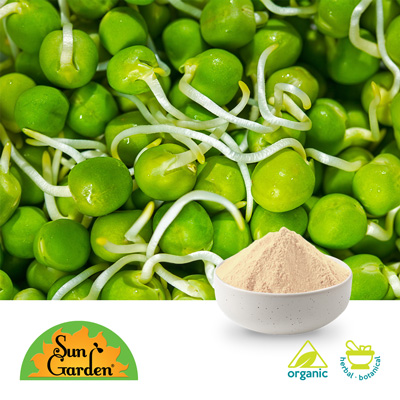 Organic Green Pea Sprout Powder by SunGarden