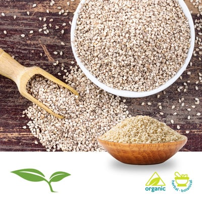Sesame Seed White Whole Organic by American Botanicals