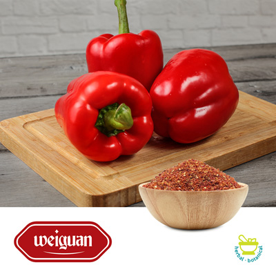 Red Bell Pepper Granules 8-40 Mesh by Yancheng Weiguan Foods Co.,LTD.
