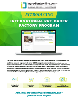 International Pre-Order Factory Program