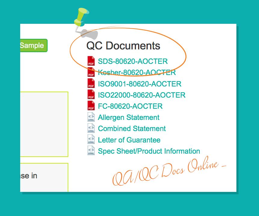 QC/QA docs online