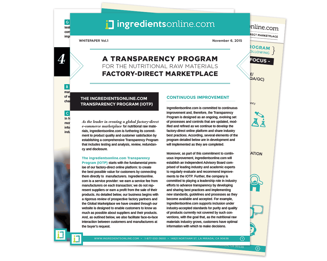 Transparency program